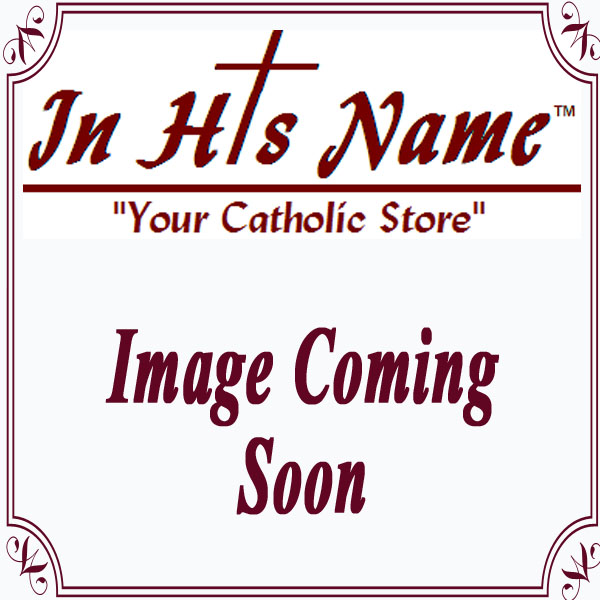 """4.5"""" Round Sacred Heart Jesus Plaque with Easel"""