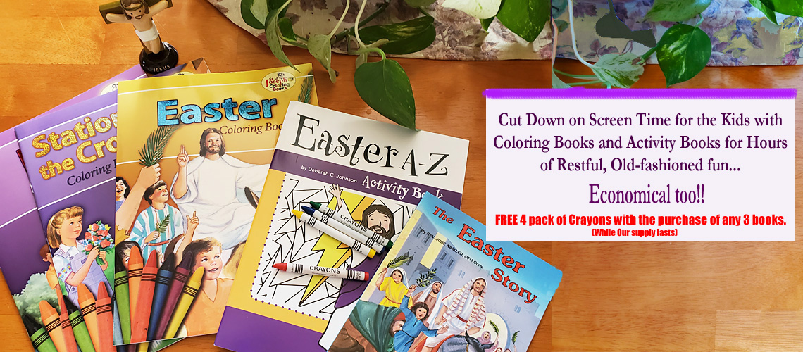 Catholic Activity & Coloring Books for hours of home fun