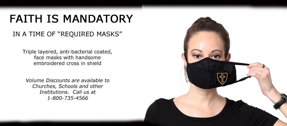 Christian 3 Layer Face Masks