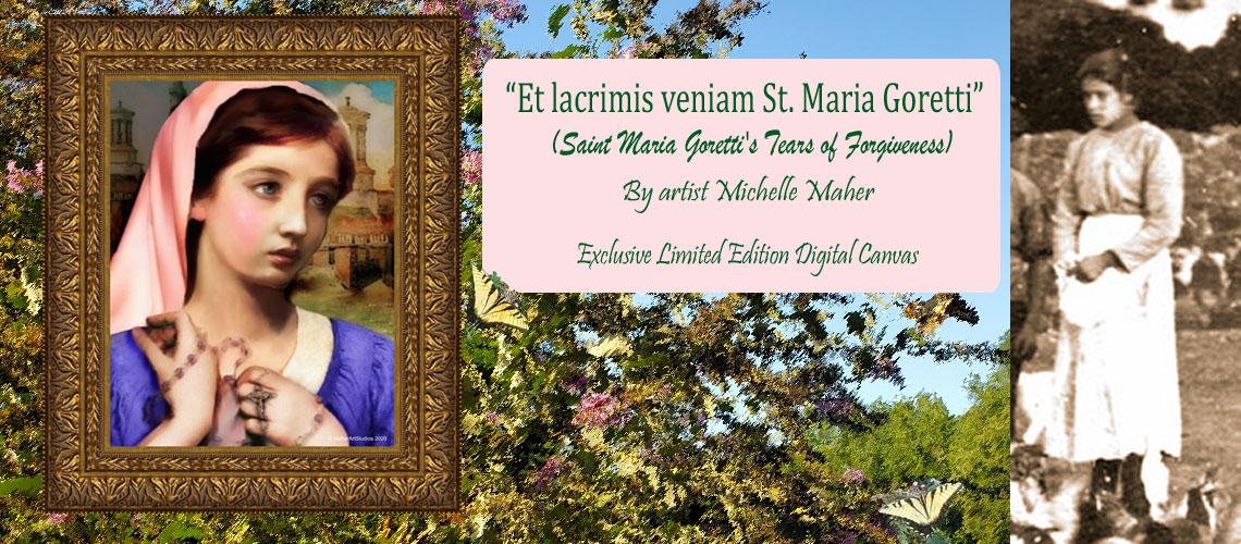 St. Maria Goretti Limited Edition Framed Canvas